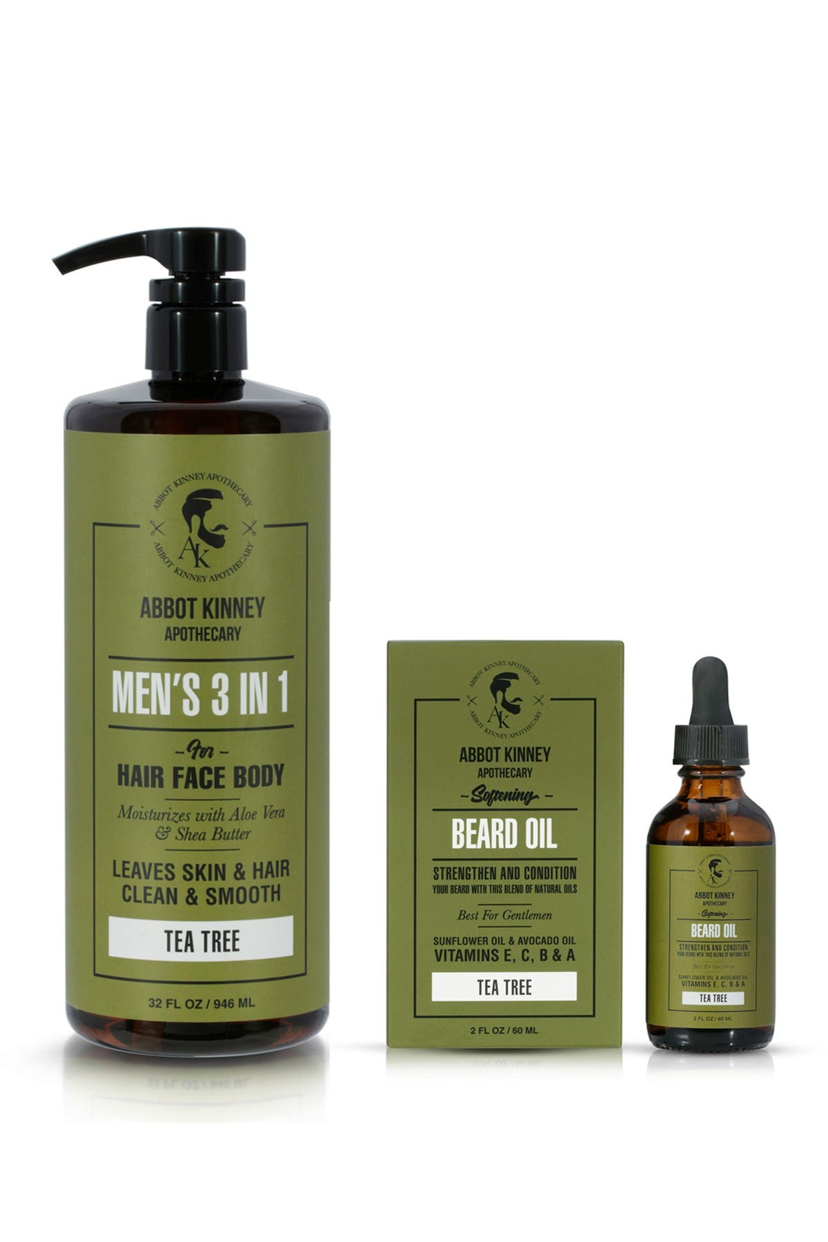Abbot Kinney Apothecary The Ultimate Men's Grooming Set In Energizing Tea Tree Fragrance