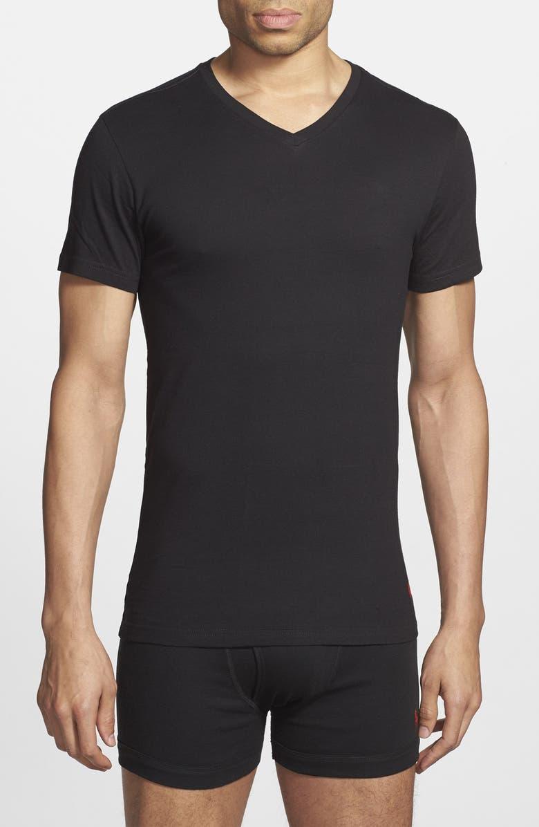 POLO RALPH LAUREN 3-Pack Trim Fit T-Shirt, Main, color, 001
