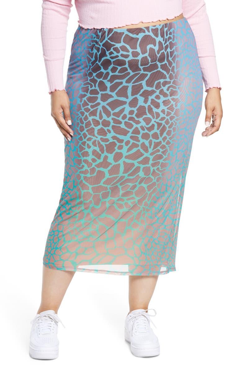 AFRM Felix Power Mesh Skirt, Main, color, PLACEMENT GIRAFFE