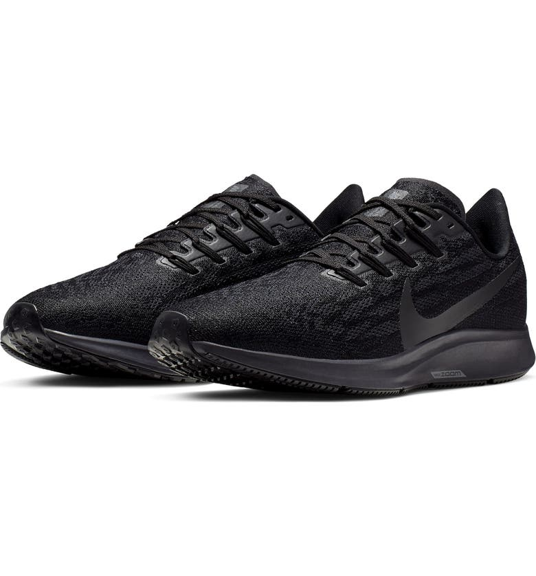 NIKE Air Zoom Pegasus 36 Running Shoe, Main, color, BLACK/ OIL GREY/ GREY/ BLACK