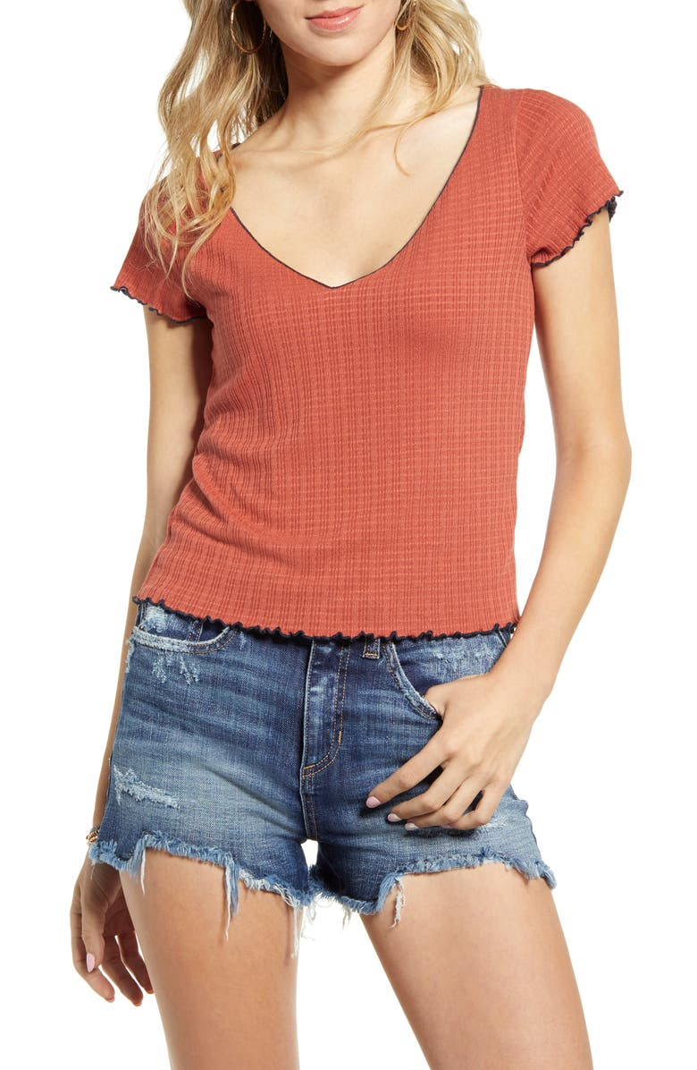 PST BY PROJECT SOCIAL T Lettuce Edge Baby Tee, Main, color, 241