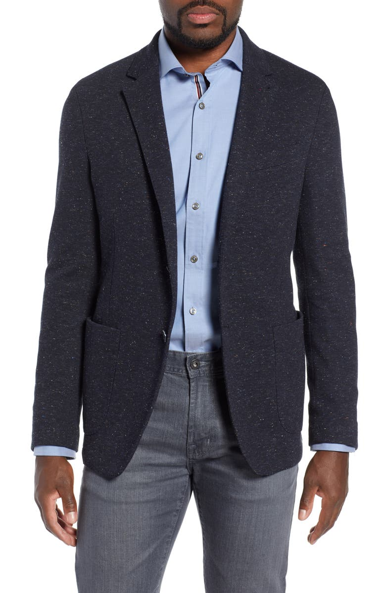 BUGATCHI Cotton & Wool Blend Sport Coat, Main, color, CAVIAR