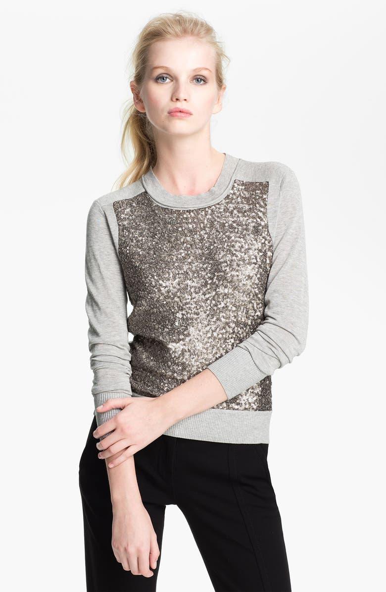 DIANE VON FURSTENBERG 'Paryse' Sequin Silk Sweater, Main, color, 067