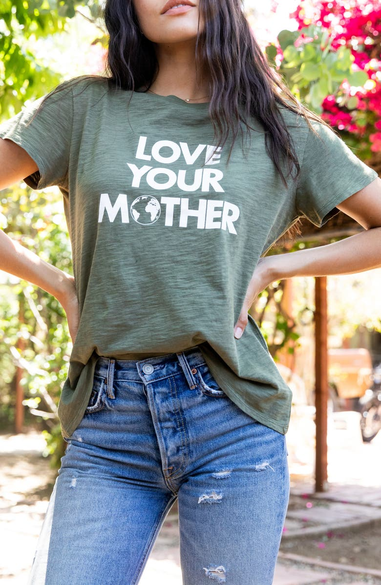 SUB_URBAN RIOT Love Your Mother Graphic Tee, Main, color, CAMO GREEN