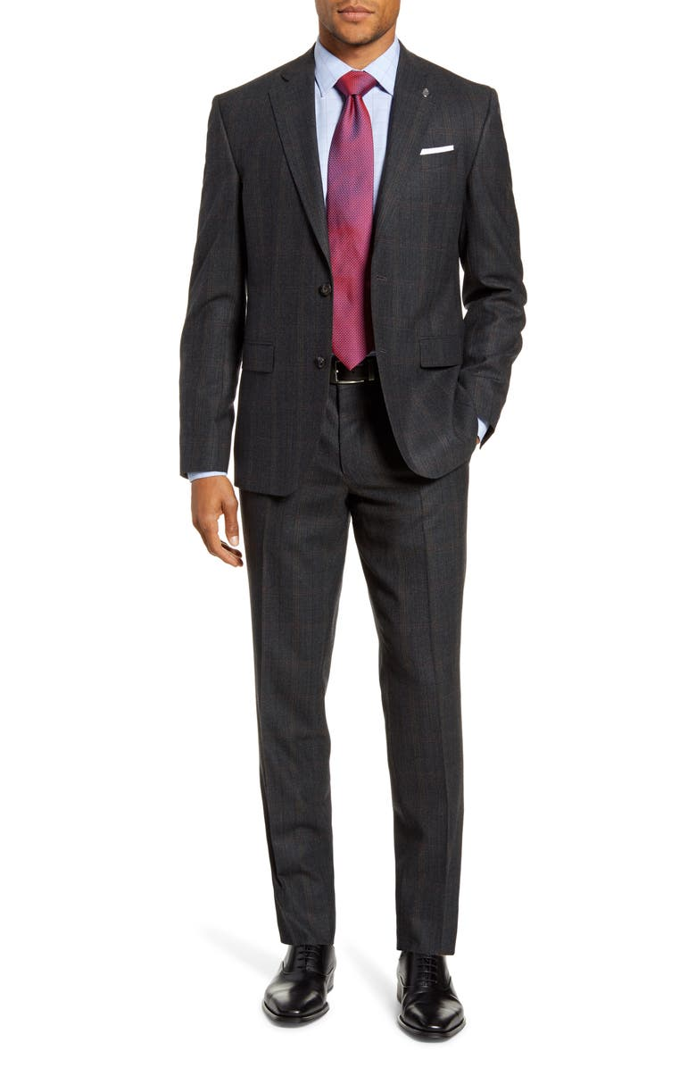 TED BAKER LONDON Roger Slim Fit Plaid Wool & Cashmere Suit, Main, color, 020