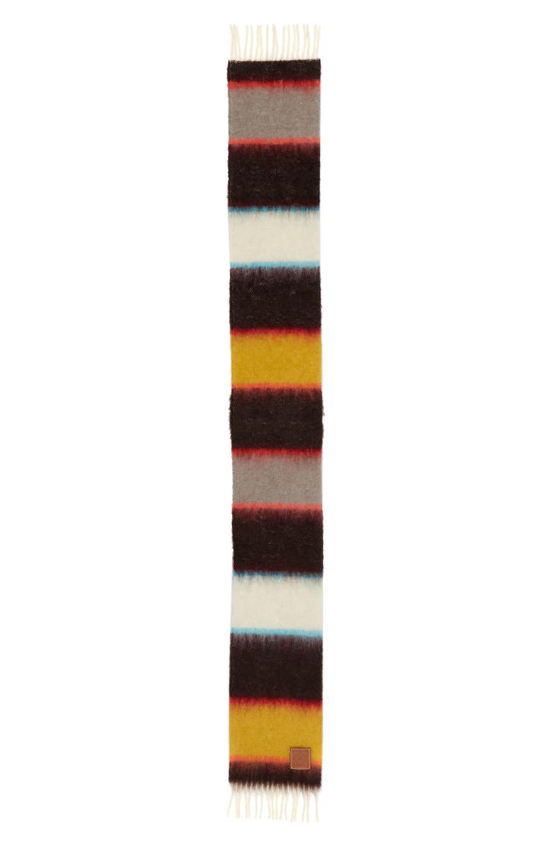 LOEWE Stripes Mohair Blend Scarf, Main, color, 001