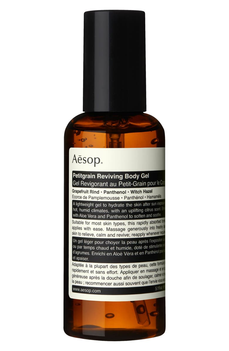 AESOP Petitgrain Reviving Body Gel, Main, color, NO COLOR