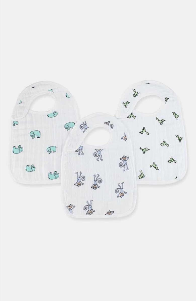 ADEN + ANAIS Classic Snap Bib, Main, color, JUNGLE JAM