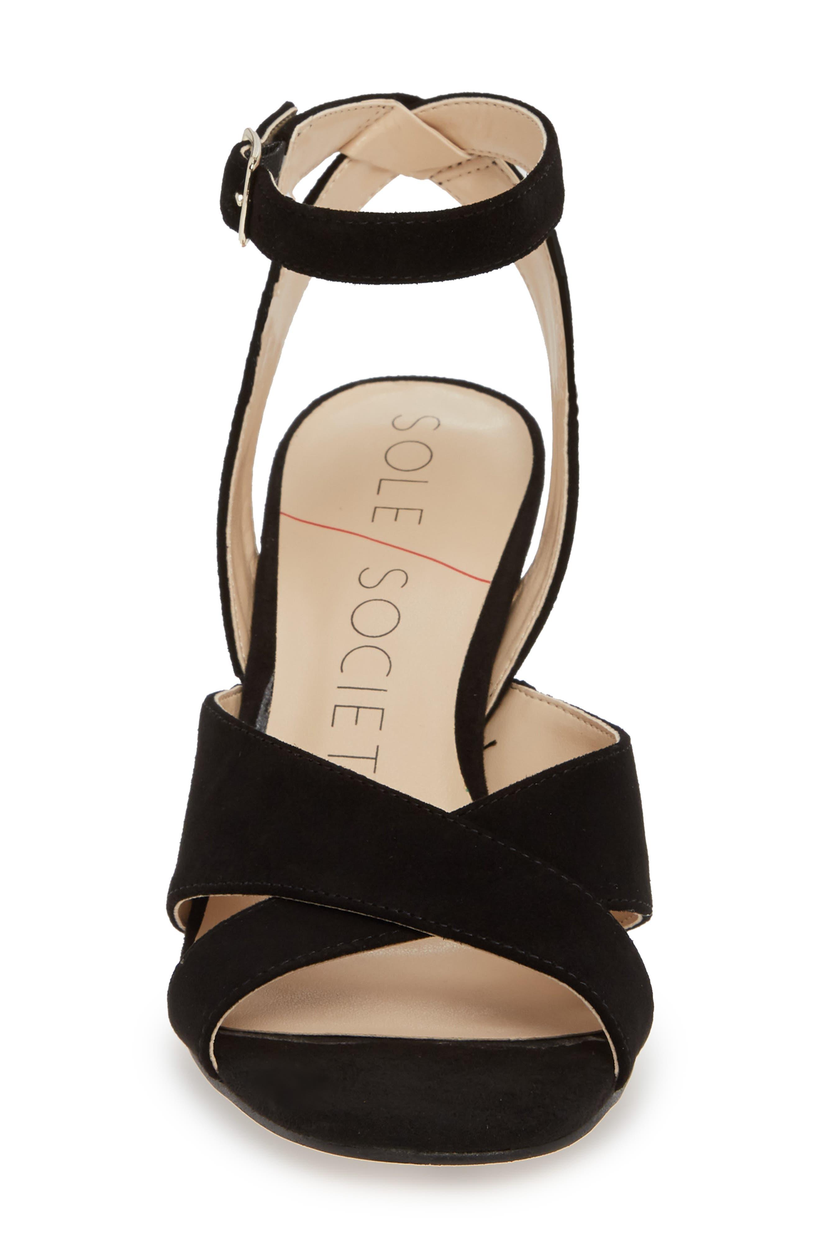 ,                             Cassidea Ankle Strap Sandal,                             Alternate thumbnail 4, color,                             001
