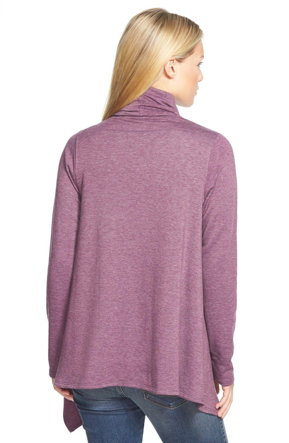 ,                             One-Button Fleece Wrap Cardigan,                             Alternate thumbnail 18, color,                             507