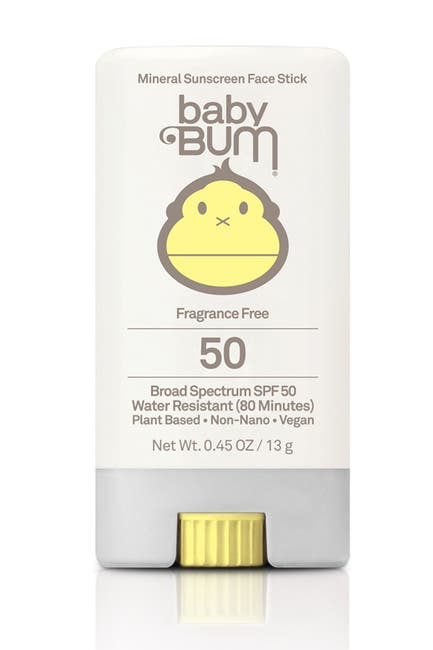 Image of Sun Bum Baby Bum SPF 50 Fragrance-Free Mineral Sunscreen - 0.45 oz.