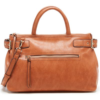 Sole Society Dael Faux Leather Satchel - Brown