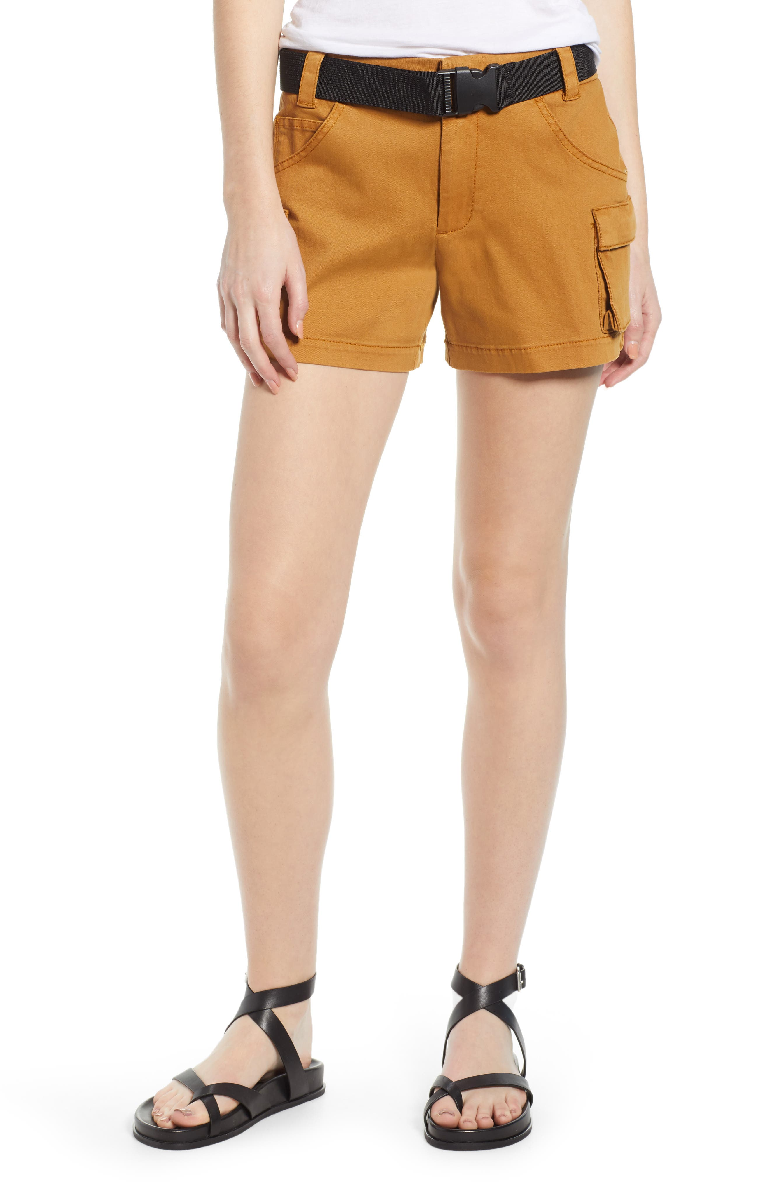 Tinsel Utility Cargo Shorts, Brown