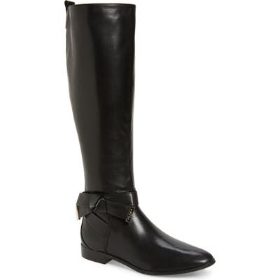 Ted Baker London Sintial Knotted Strap Knee High Boot, Black