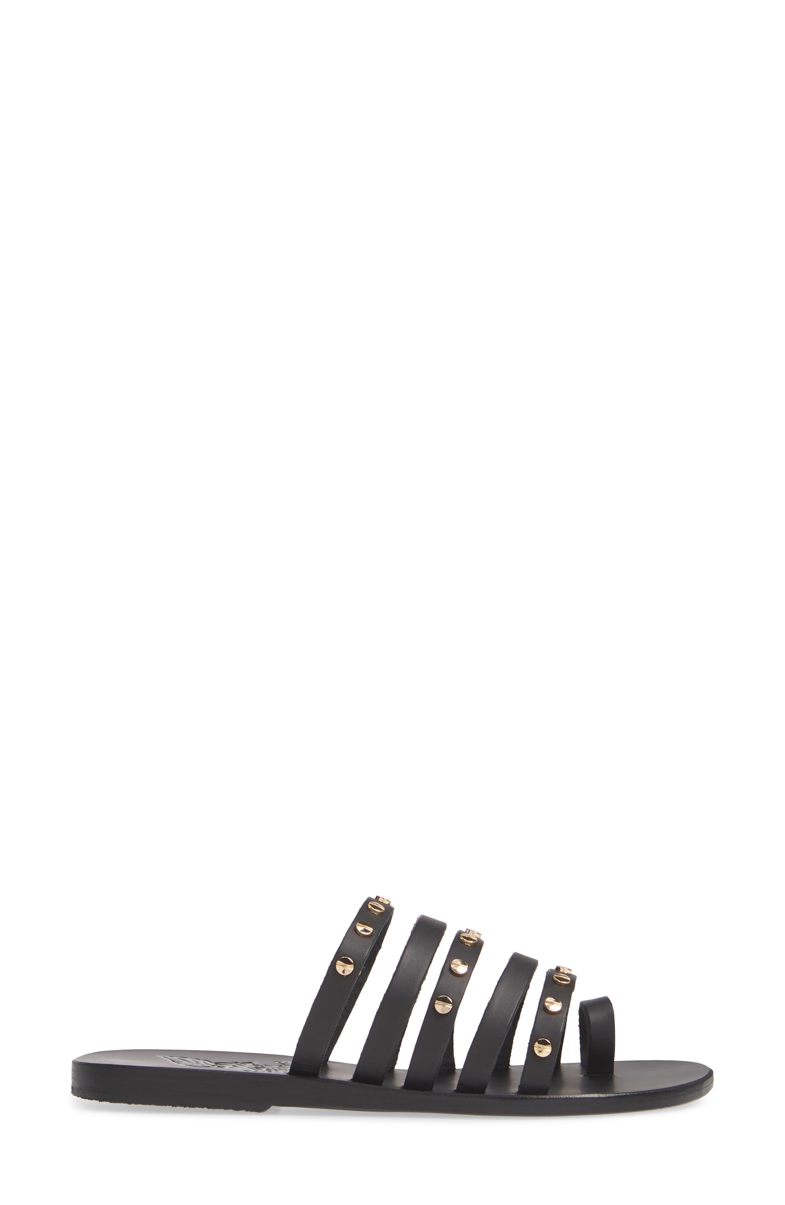 ,                             Niki Nails Sandal,                             Alternate thumbnail 3, color,                             BLACK