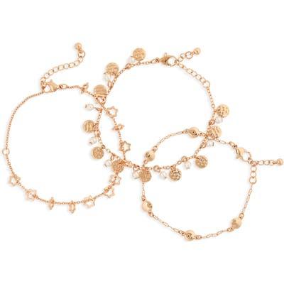 Bp. Set Of 3 Star Charm Bracelets