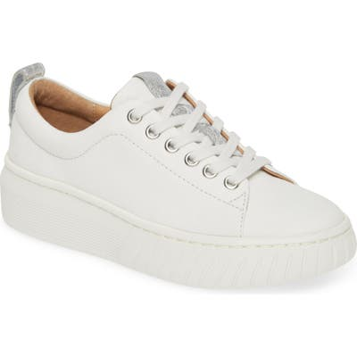 Sofft Pacey Platform Sneaker- White