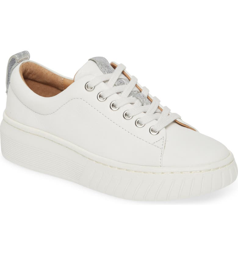 SÖFFT Pacey Platform Sneaker, Main, color, WHITE/ SILVER