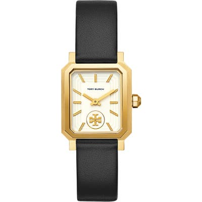 Tory Burch Robinson Leather Strap Watch, 27Mm X 2m