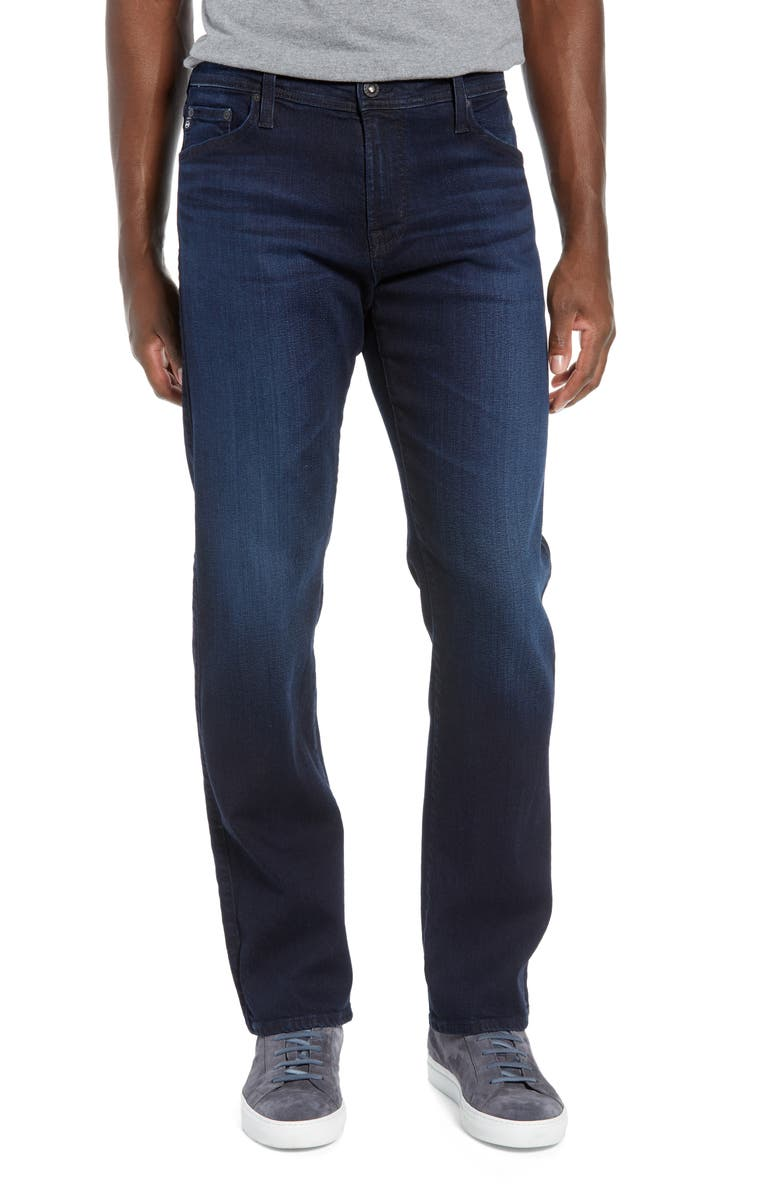 AG Graduate Slim Straight Leg Jeans, Main, color, COMPASS