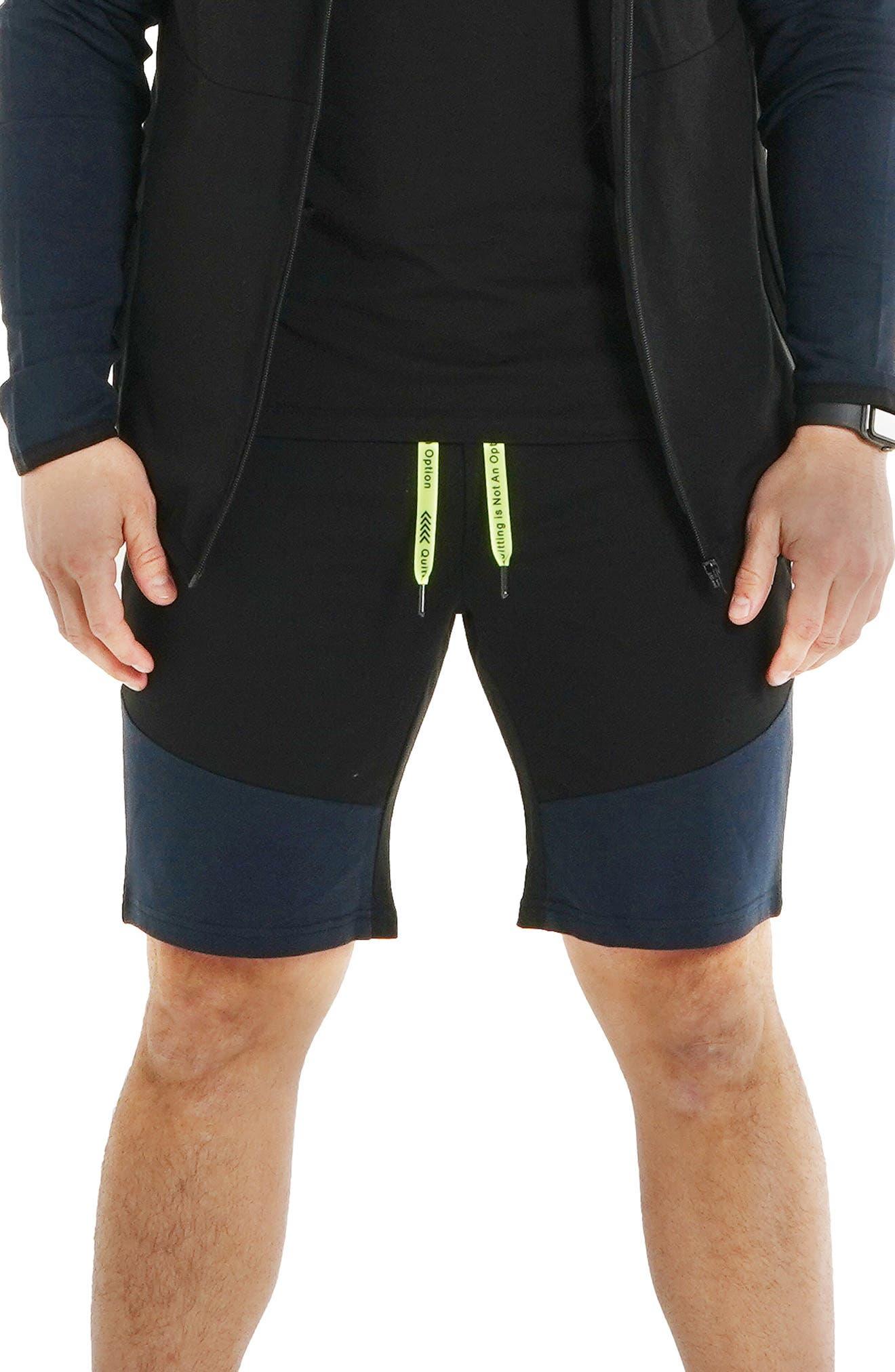 Cotton Contrast Shorts