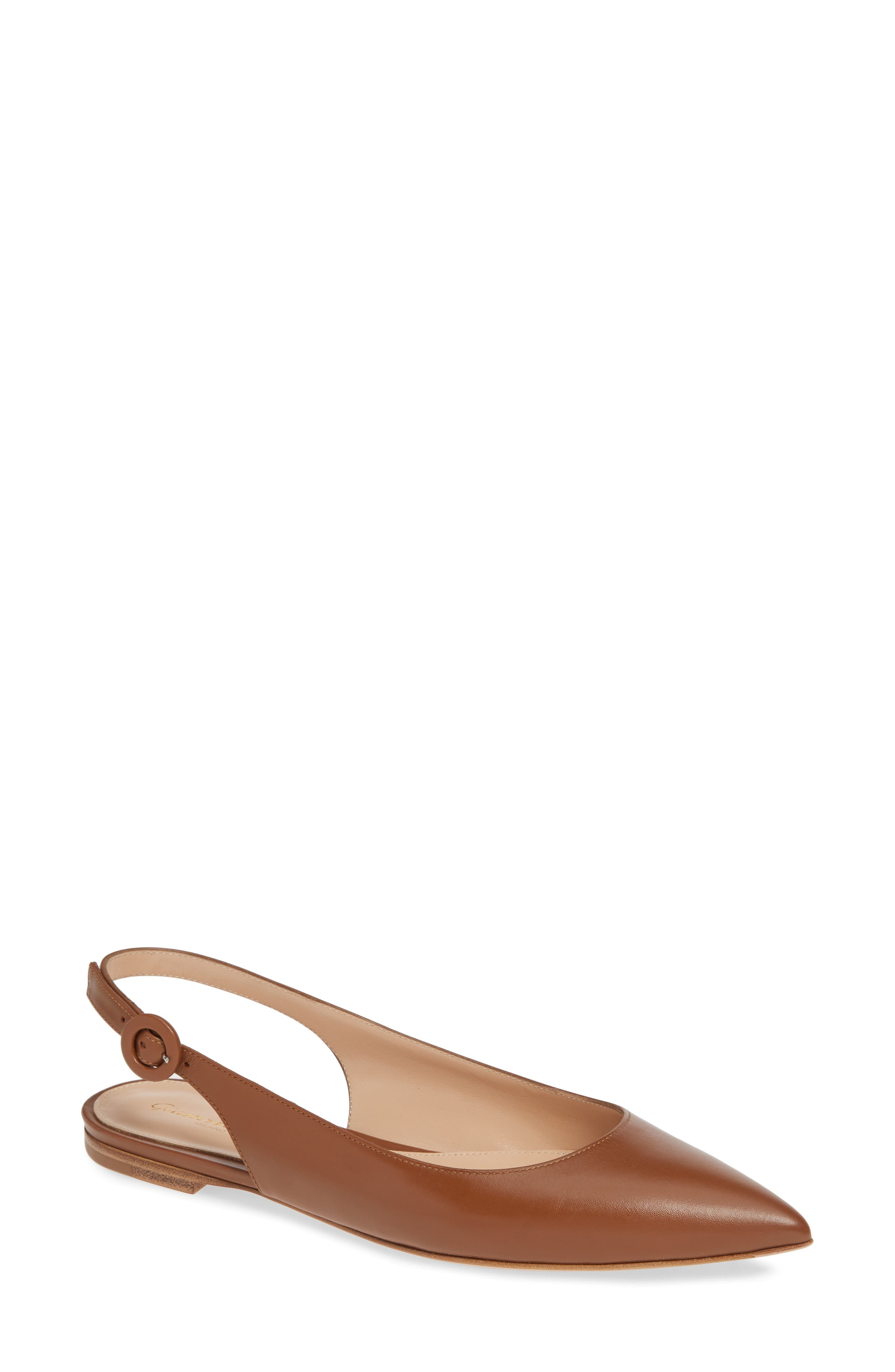 Gianvito Rossi Slingback Flat - Brown