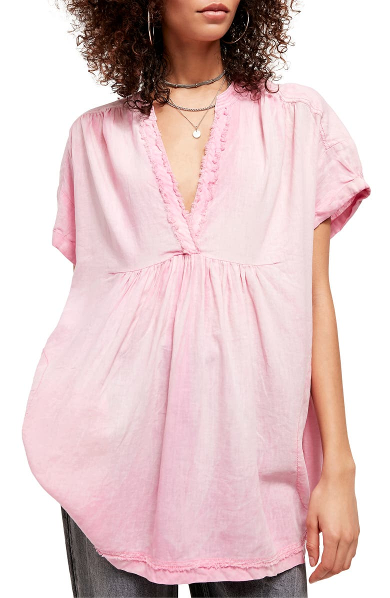 FREE PEOPLE Getaway with Me Tunic Top, Main, color, LOVELY LILAC