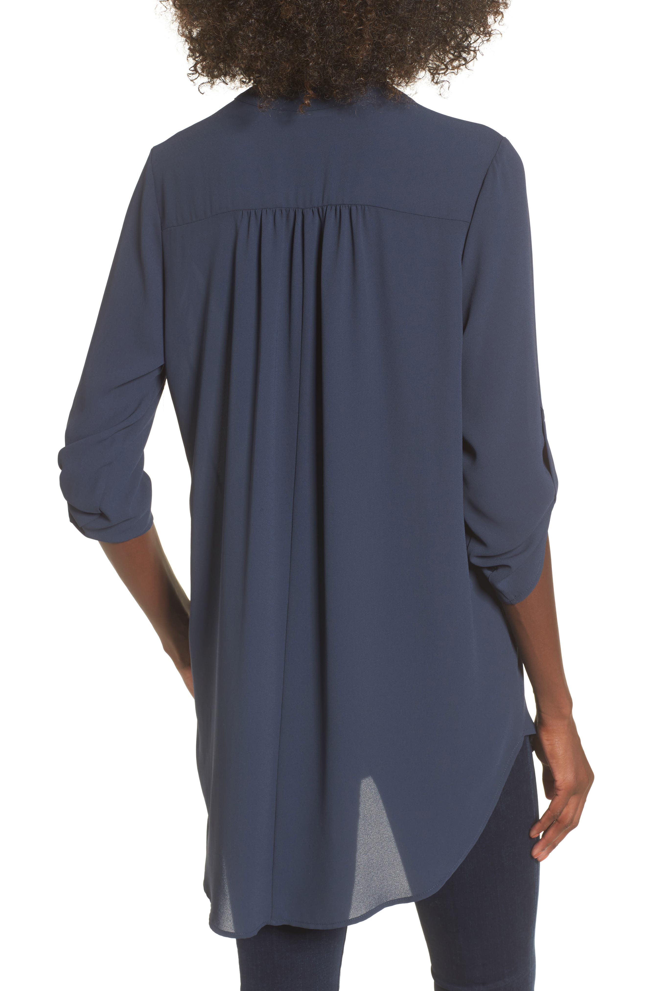 ,                             Perfect Roll Tab Sleeve Tunic,                             Alternate thumbnail 87, color,                             421