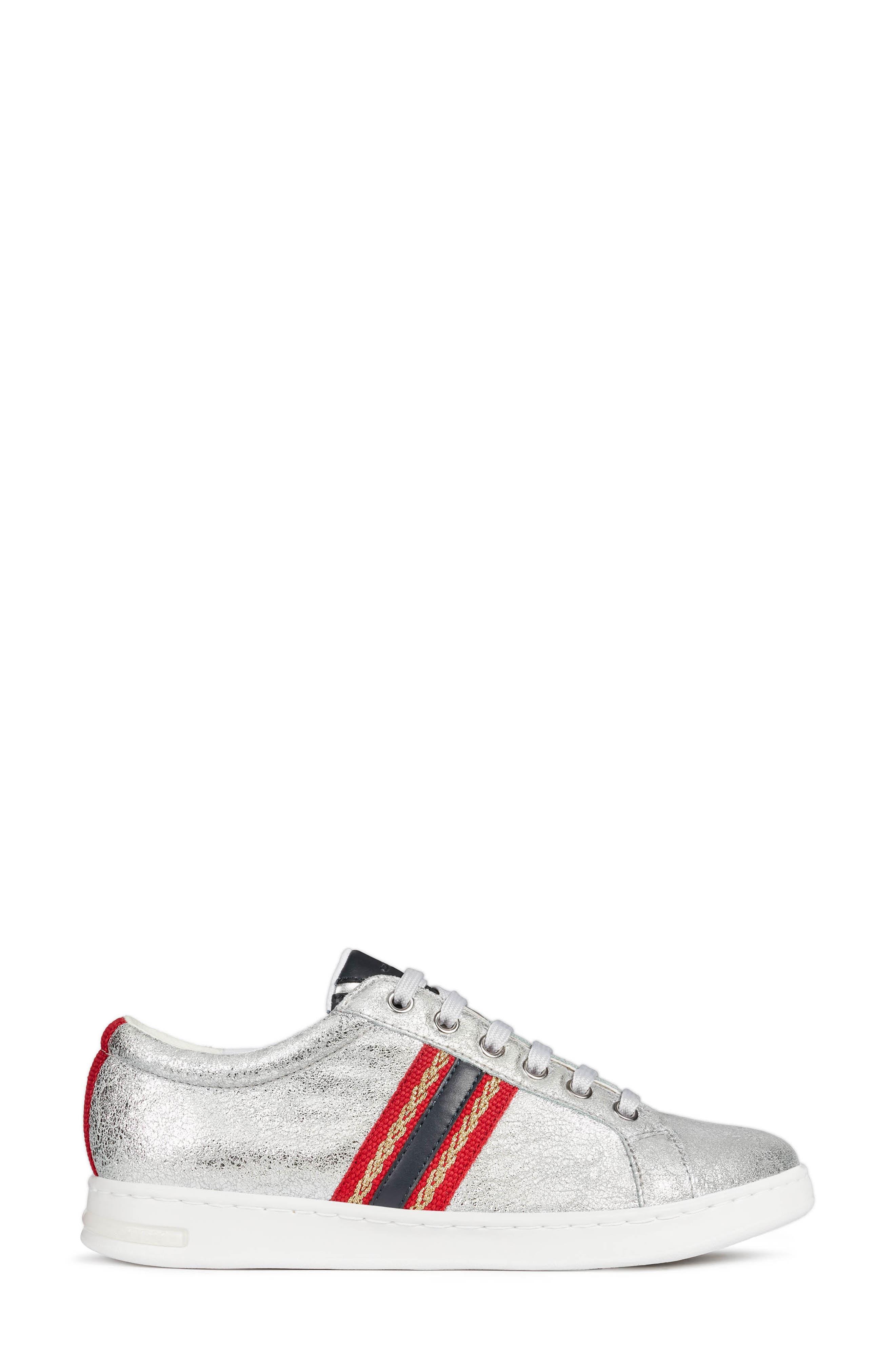 ,                             Jaysen Sneaker,                             Alternate thumbnail 3, color,                             SILVER/ NAVY LEATHER