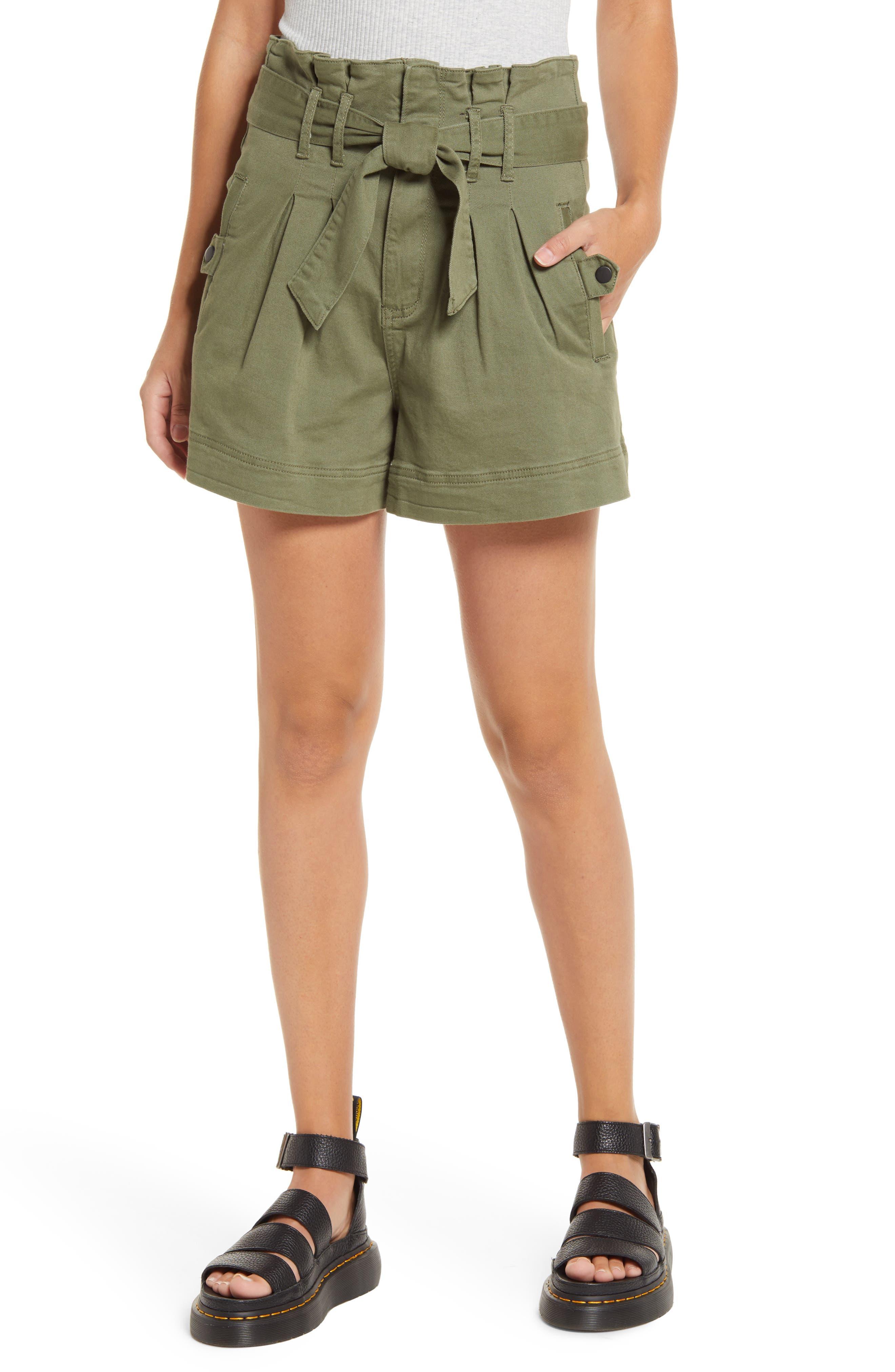 STS Blue High Waist Paperbag Shorts | Nordstrom