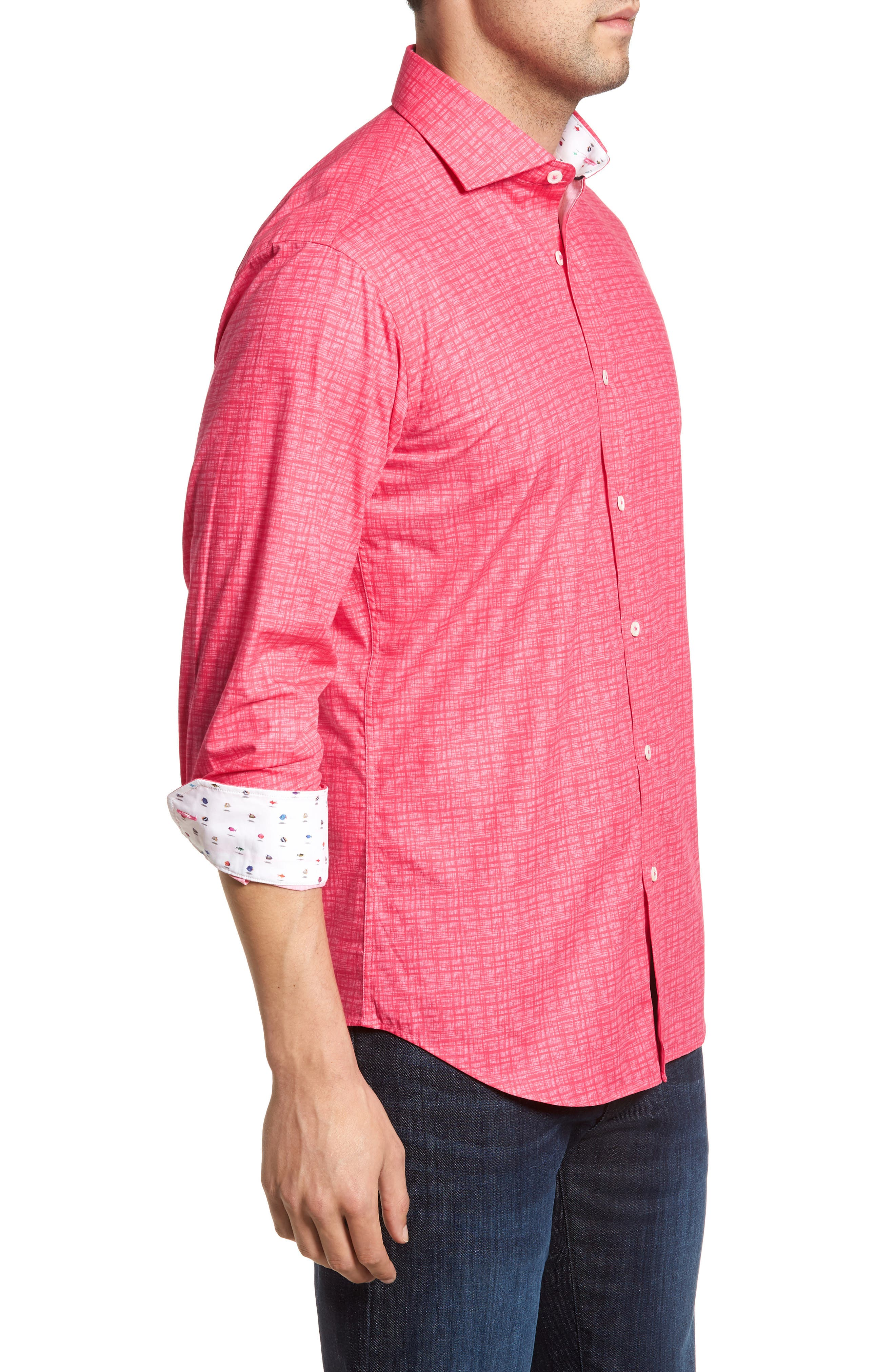 ,                             Shaped Fit Freehand Sport Shirt,                             Alternate thumbnail 45, color,                             671