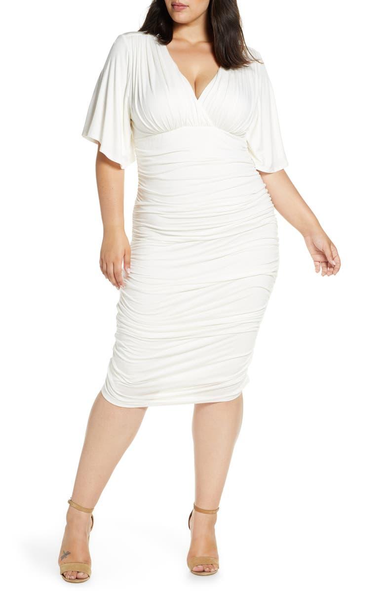 Kiyonna Paloma Ruched Dress (Plus Size) | Nordstrom