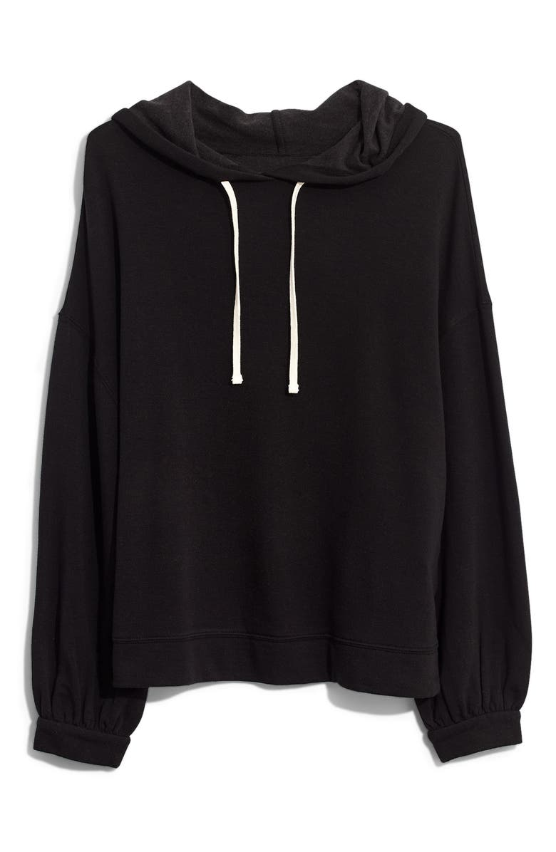 MADEWELL Bubble Sleeve Hoodie Sweatshirt, Main, color, 001