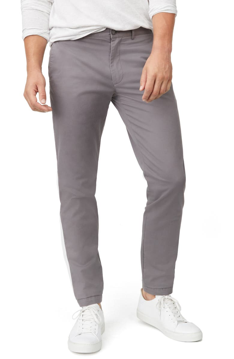 CLUB MONACO Connor Slim Fit Stretch Cotton Chino Pants, Main, color, GREY
