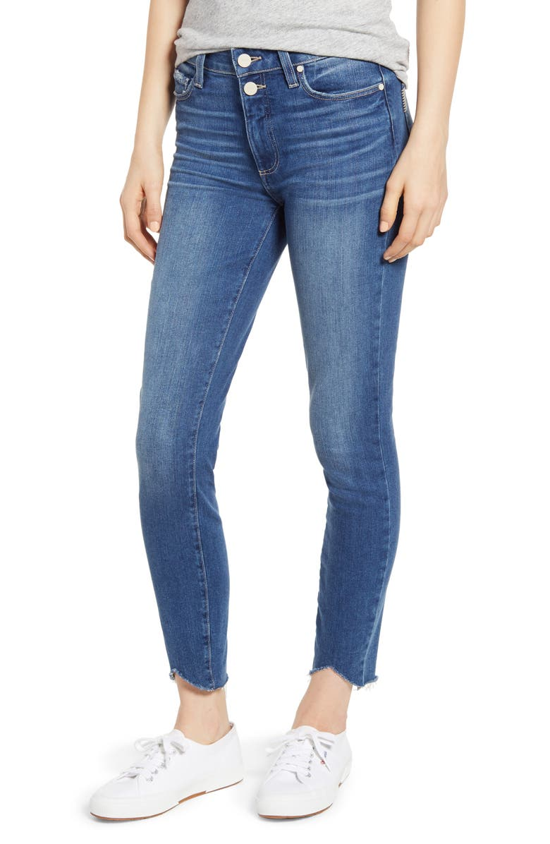 PAIGE Hoxton High Waist Ankle Skinny Jeans, Main, color, 400