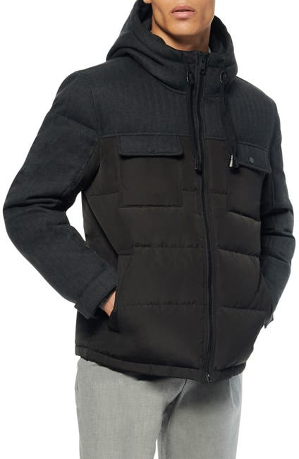 Image of Andrew Marc Hopkins Hooded Trucker Jacket