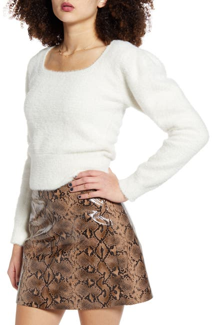 Image of ASTR the Label Fuzzy Crop Sweater