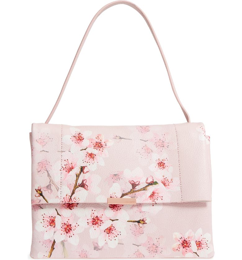 142796ffaba Ted Baker London Jayde Soft Blossom Leather Shoulder Bag | Nordstrom