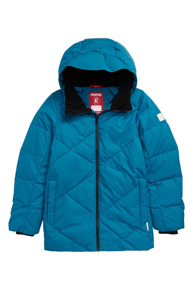 REIMA Waterproof Down & Feather Fill Jacket, Main, color, GREEN