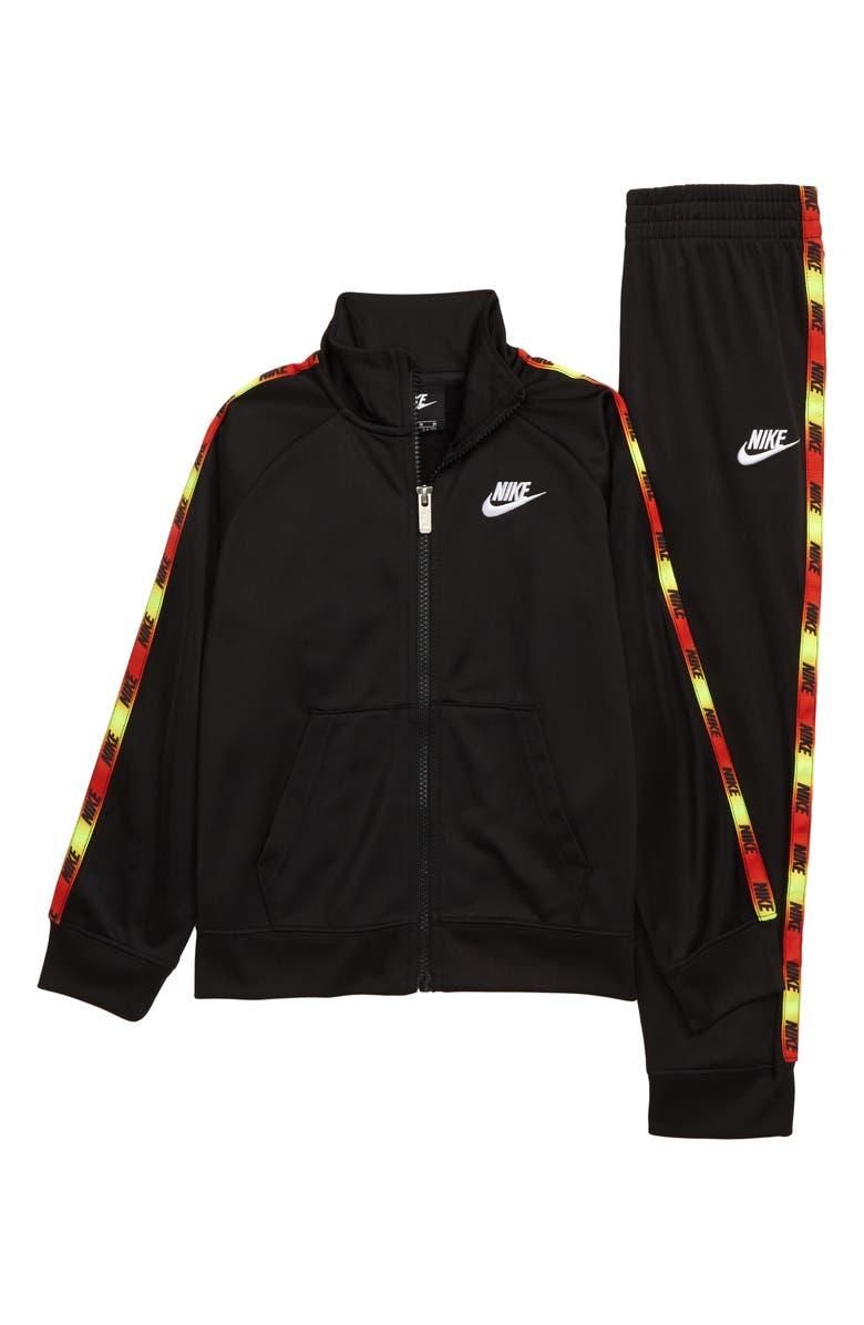 NIKE Logo Taping Tricot Zip Jacket & Pants Set, Main, color, 019