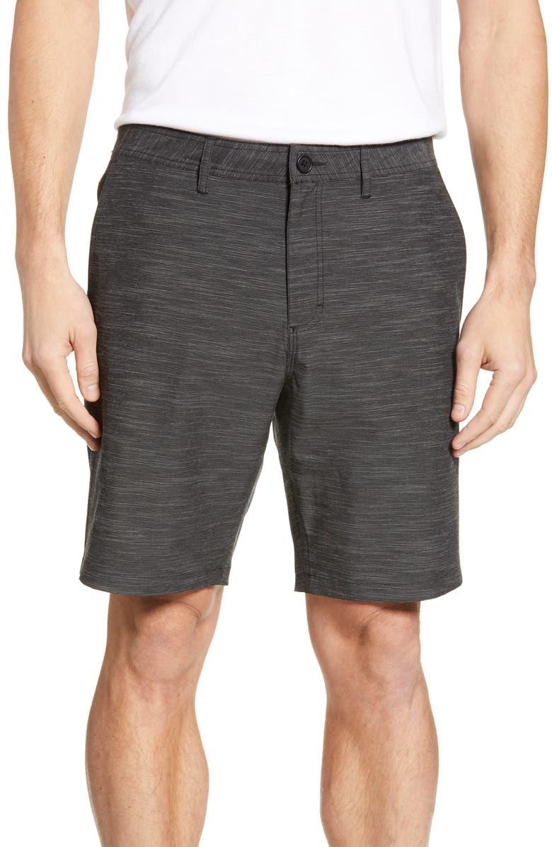 NORDSTROM MEN'S SHOP Shorts, Main, color, BLACK