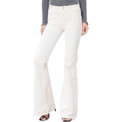 Paige Genevieve Flare Velvet Pants, Ivory