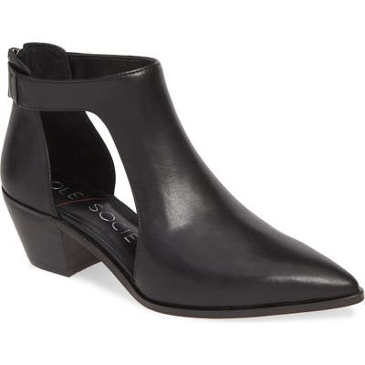 Sole Society Lanette Pointy Toe Bootie- Black