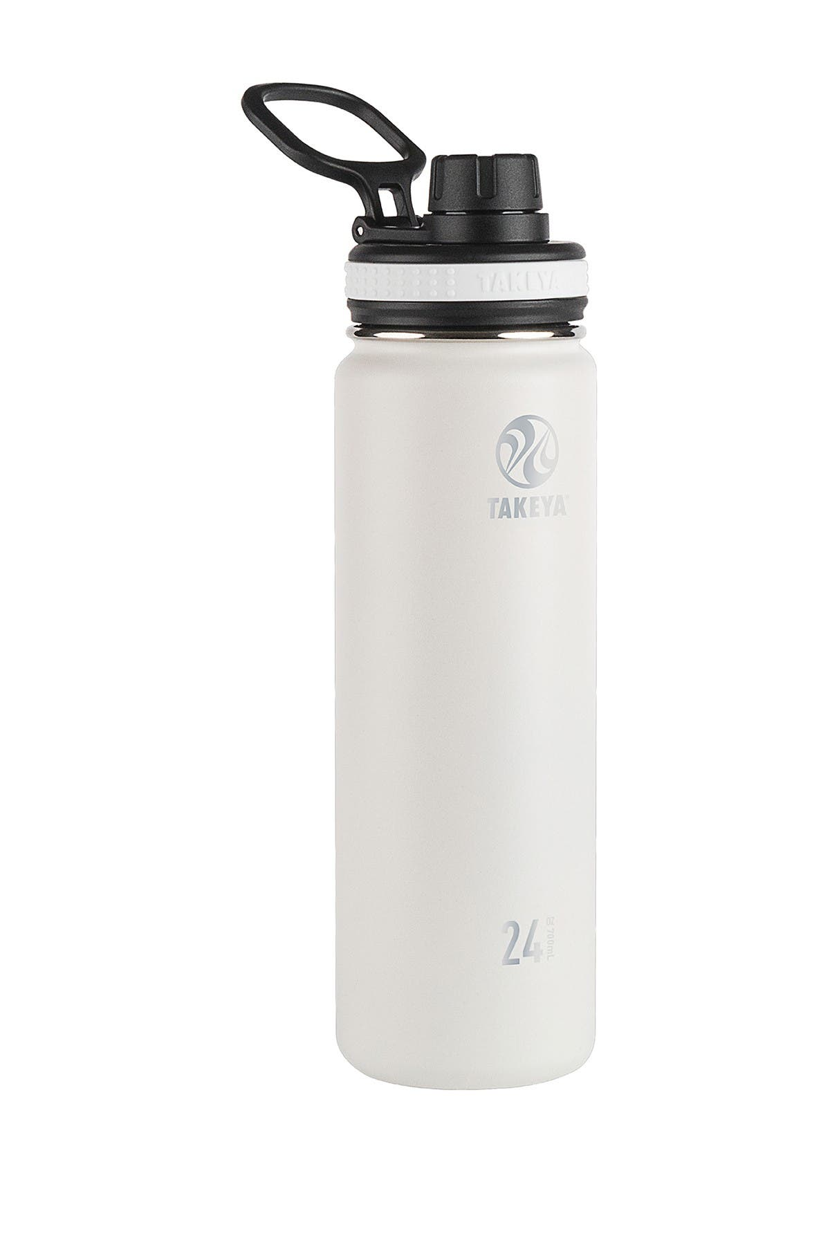 Image of Takeya White Originals Insulated Spout Lid 24oz. Stainless Steel Bottle