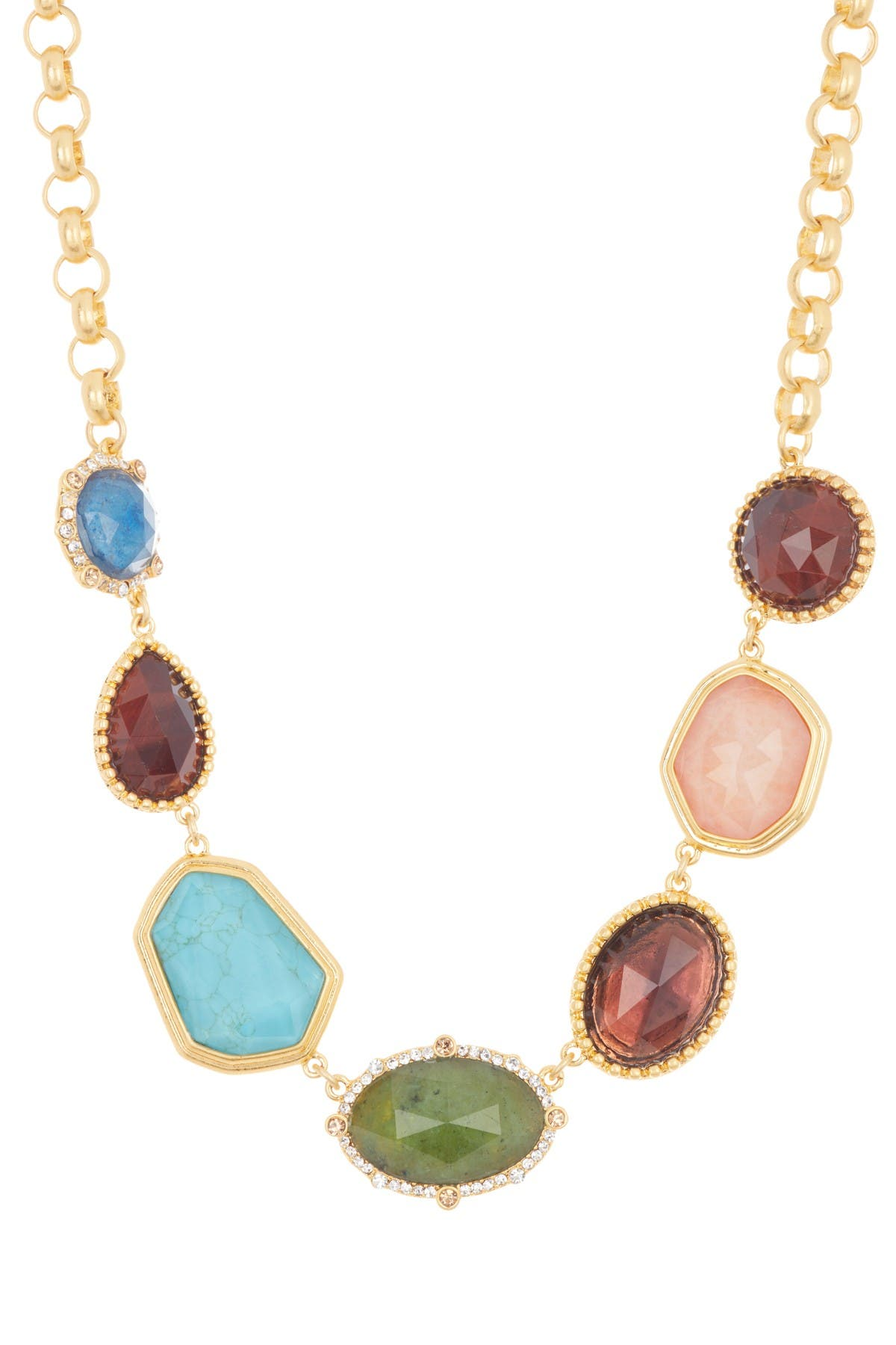 Image of kate spade new york perfectly imperfect stone station necklace