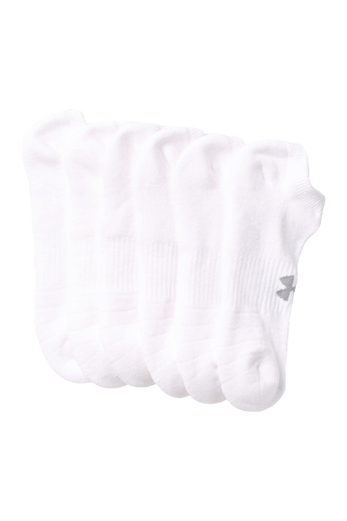Image of Under Armour Training Cotton Blend No Show Socks - Pack of 6