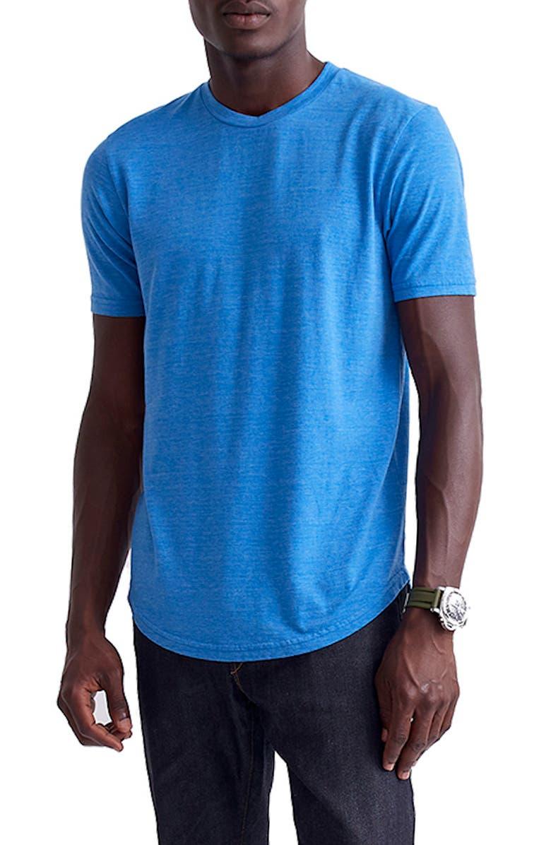 GOODLIFE Triblend Scallop Crewneck T-Shirt, Main, color, STRONG BLUE