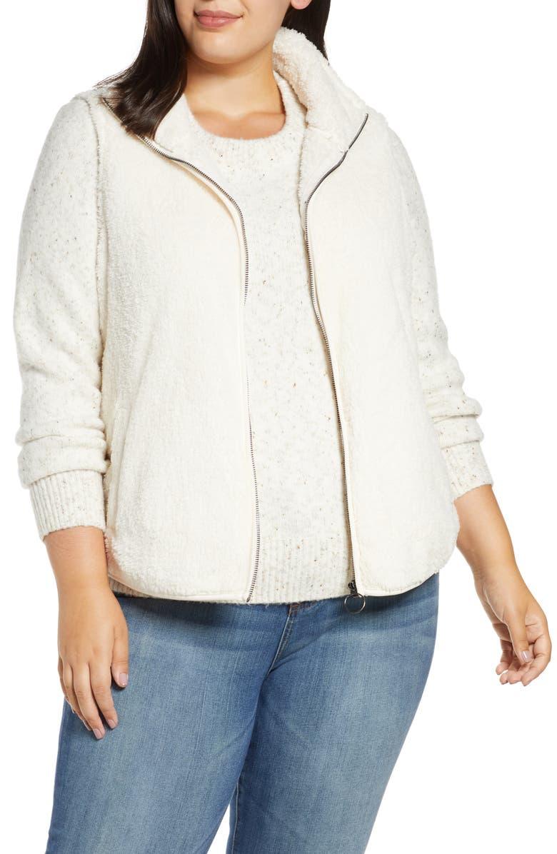 BOBEAU Cozy Faux Shearling Vest, Main, color, SUGAR