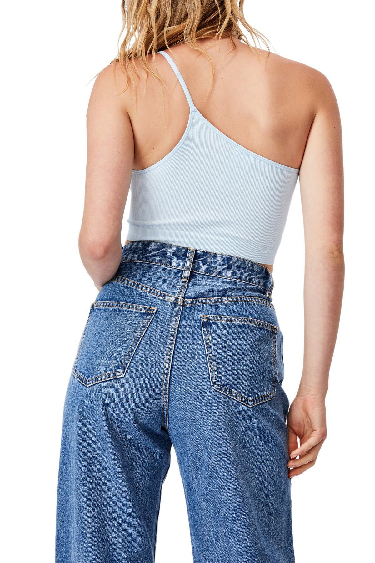 Image of Cotton On Boston Seamless One Shoulder Cami