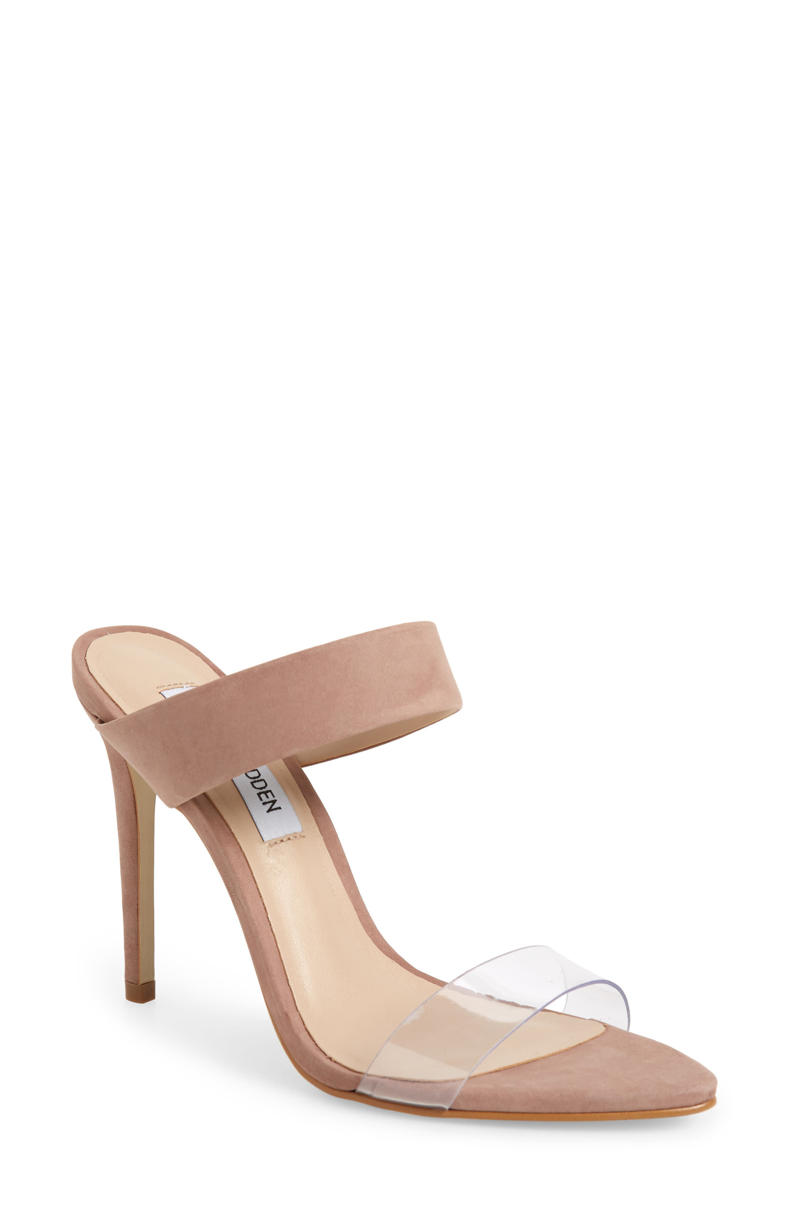 Steve Madden Amaya Clear Slide Sandal, Pink